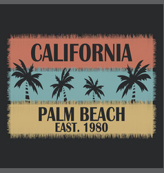 california typography for design clothes t-shirts vector image