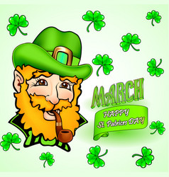 Card for st patricks day and congratulation vector