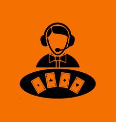 Casino dealer icon vector