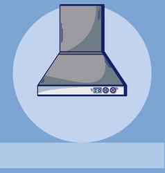 Chimney kitchen equipment vector