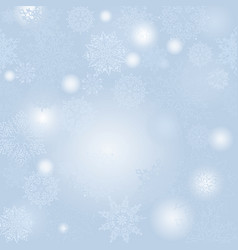 christmas snowfall background winter holiday snow vector image