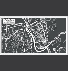 coimbra portugal city map in retro style vector image