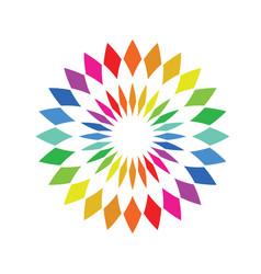 Color wheel palette - round spectrum swatch vector