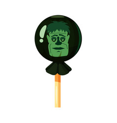 Colored sweets lollipop hard candy zombie vector