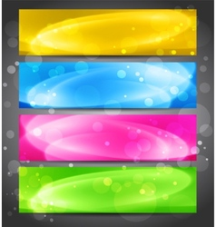 Colorful light banner vector image
