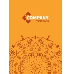 Cover template with floral background vector image