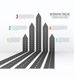 creative of 3d arrow roads map vector image