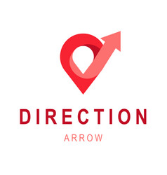 Direction arrow logo template abstract business vector