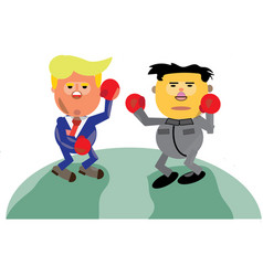 Donald trump vs kim jong-un vector
