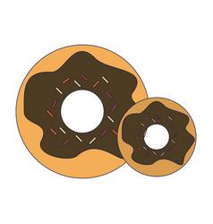 donuts dessert food vector image