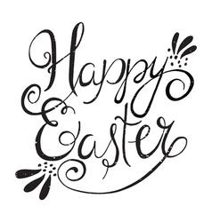 Easter wording vector