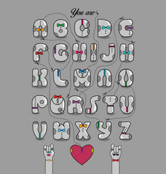 Encrypted romantic message you are my other half vector