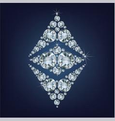 Ethereum symbol made a lot of diamonds vector