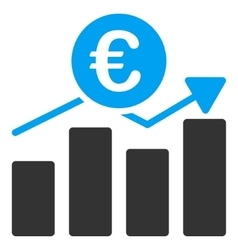 Euro Business Chart Flat Icon vector image