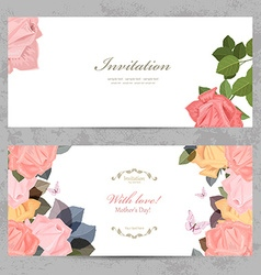 fashion collection greeting cards with blossom of vector image