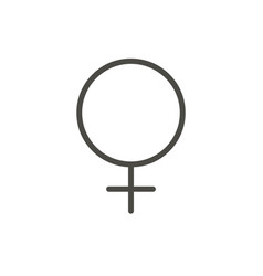 female gender icon line woman sex symbol i vector image