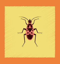 flat shading style soldier bug vector image