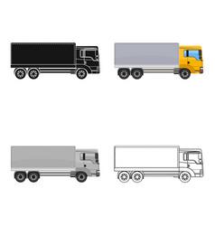 freight car single icon in cartoonoutlineblack vector image