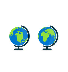 Globe with stand world on globus for classroom vector