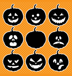 halloween isolated pumpkins vector image