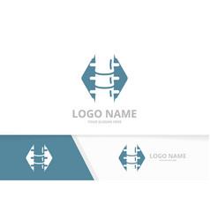 health spine logo orthopedic logotype vector image