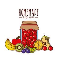 homemade jam design vector image