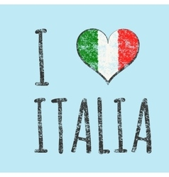 I love italia typography t-shirt graphics vector image