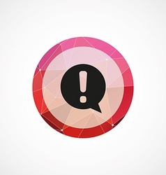 info circle pink triangle background icon vector image