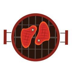 Isolated grill vector