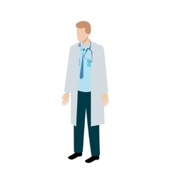 Isometric doctor character vector image