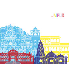 Jaipur skyline pop vector