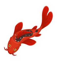 koi fish icon japanese water and art animal vector image