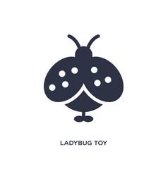 ladybug toy icon on white background simple vector image