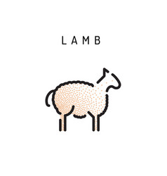 lamb lamb outline icon vector image