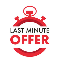 Last minute offer isolated icon timer or vector