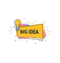 lightbulb idea line banner vector image