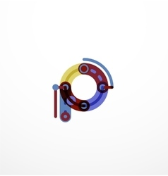 Linear letter concept vector image
