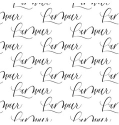 love in french valentine seamless grunge pattern vector image