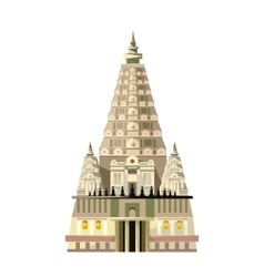 Mahabodhi temple icon isolated on white background vector image