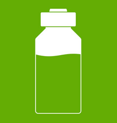 Medicine icon green vector