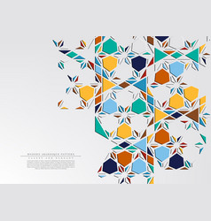 Modern arabesque triangular pattern background vector