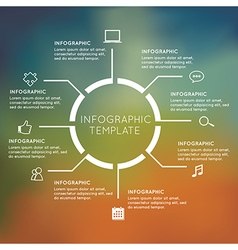 Modern Infographics circle with blur background vector image