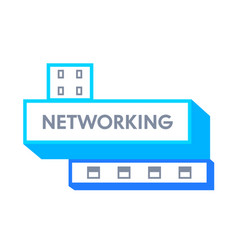networking banner icon or badge with typography vector image