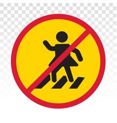 No pedestrian access - prohibition sign vector