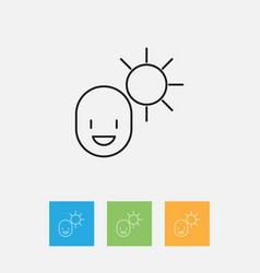 Of climate symbol on man under vector