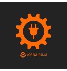 Orange energy industry logo vector