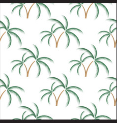palm tree background seamless tropical summer vector image