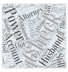 power of attorney Word Cloud Concept vector image