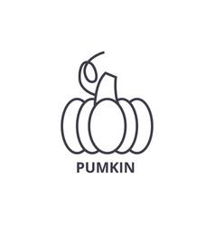 pumpkin line icon outline sign linear symbol vector image