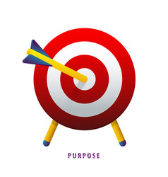 Purpose the arrow in the target vector